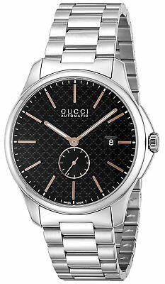 e57015cb19f GUCCI Automatic G TIMELESS Black Dial Men s Watch Stainless Steel YA126312