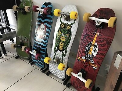 Skateboard Display Stand for those precious Santa Cruz, Powell Peralta, Alva.