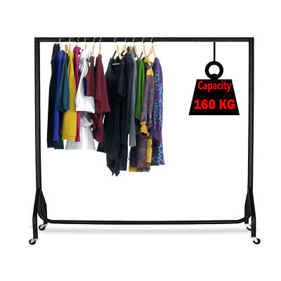 SUPER HEAVY DUTY CLOTHES RAIL 6ft Long x 5ft High Metal Garment Hanging Rack NEW