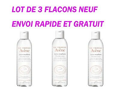 Lot De 3 Avene Eau Thermale Lotion Micellaire Demaquillante Visage Et Yeux 400Ml