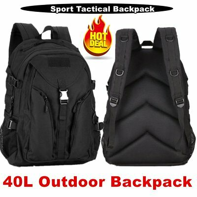 Quality Large 40L Capacity Water-Resistant Tactical Backpack Sport Hiking Bag