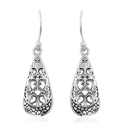 925S Sterling Silver Openwork Dangle Fashion Earrings For Womens