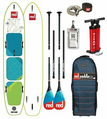 Red Paddle Co 2018 15.0' VOYAGER TANDEM MSL Set Package Stand Up Paddle Touring