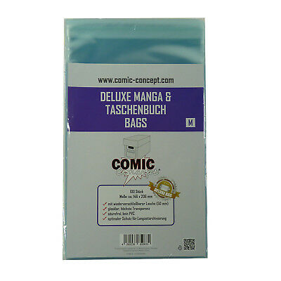 COMIC CONCEPT 100x Deluxe Manga & Taschenbuch Bags M (146 x 206 mm)