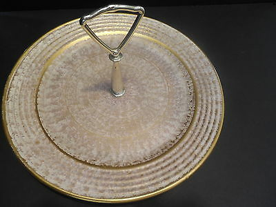 Vintage STANGL POTTERY -  'ANTIQUE GOLD' SERVING PLATE - Mid-Century