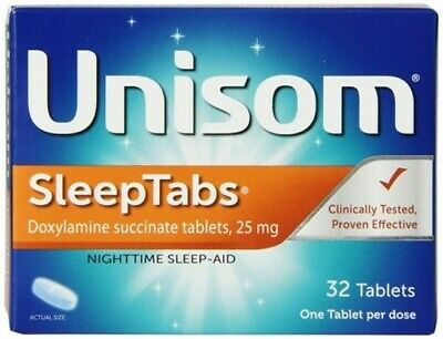 Unisom Sleep Tabs Night Time Sleep Aid Tablets - 32 Count (Pack Of 3)