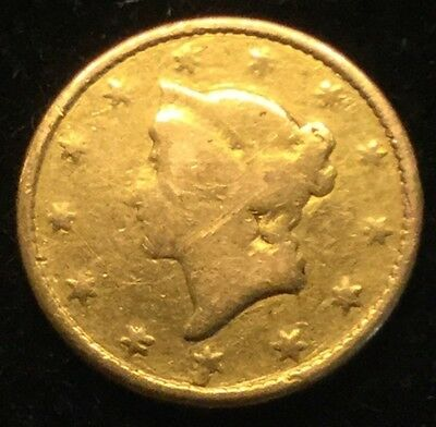 $1 Type 1 U.S. Gold Liberty Dollar (damage)