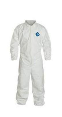 Dupont TY125S-XL Full Case Tyvek Coverall With Elastic Wrists & Ankles