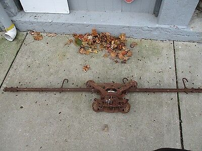 Antique Cast Iron F.e.  Myers Cloverleaf Hay Trolley Unloader Patent 1903