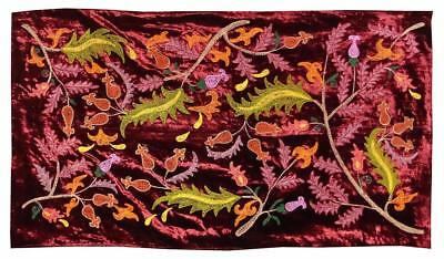 Vintage Uzbek Silk Embroidery Suzani With Winding Shoots A10843