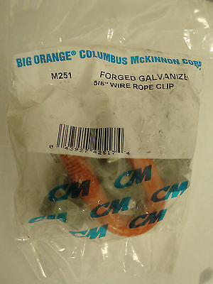 """CM Columbus McKinnon Forged Wire Rope Clips M251 5/8"""" Qty 2 -7090E40B"""