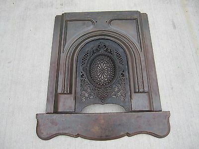 Antique Victorian Cast Iron Fireplace Surround Summer Cover Architectural