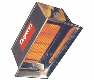 "Dayton 5VD61A Commercial Infrared Heater NG BtuH Input 30,000 1/2"" NPT 24VAC"