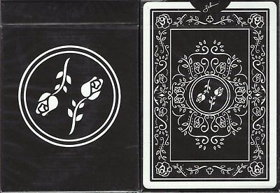Black Roses Playing Cards Poker Size Deck USPCC Custom Limited Edition Sealed