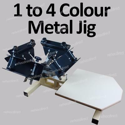 4 Colour Carousel Expanda Metal Printing Jig for T-shirt/fabric/plastic/metals