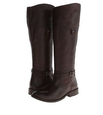 FRYE Shirley Rivet Tall Sz 6 Dark Brown Soft Vintage Leather Riding Boots