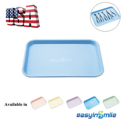 "Dental Flat Plastic Instrument Tray Size B Autoclave EASYINSMILE 13.25"" x 9.75"""