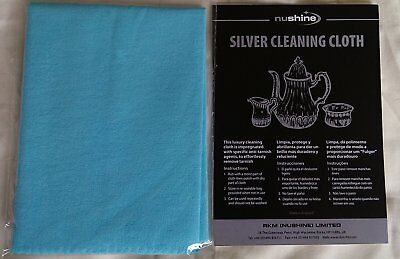 Nushine Impregnated Silver Cleaning Cloth - Small 11.5 x 16.5cm