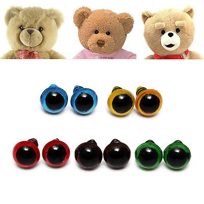 100pcs/Lot 8mm Plastic Safety Eyes For Teddy Bear Doll Animal Puppet Crafts  pop