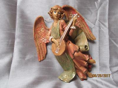 Depose Fontanani Heavy Angel Playing A Lute 9 Inches  367 Spider Mark