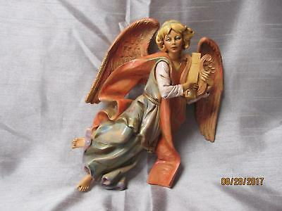 Depose Fontanani Heavy Angel Playing A Harp 9 Inches