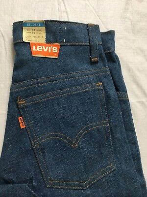Vtg Levis 746 Bell Bottom Jeans Womens 25x32 Student Fit Orange Tab USA Made NWT