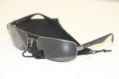 Ray-Ban Men s RB3445 004 Grey Gunmetal Rectangle Sunglasses 61-17  Frames  Only 60c942b572c5
