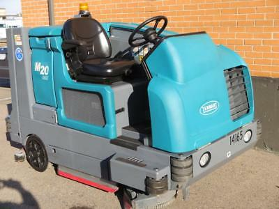 "TENNANT M20 RIDE-ON GAS FLOOR SCRUBBER SWEEPER COMBO 40"" Rider 8300 advance lot"