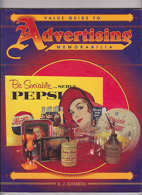 1994 Advertising Memorabilia Valuie Guide  174 pg.book B.J Summers Great photos