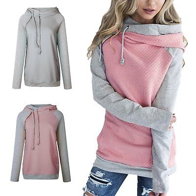 Fashion Womens Long Sleeve Casual Cotton Knitted Pullover Hoodie Sweatshirts New