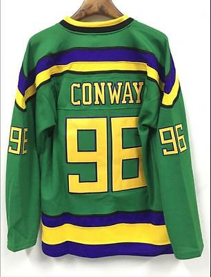The Mighty Ducks Movie Jersey #96 Charlie Conway Hockey Jersey Stitched
