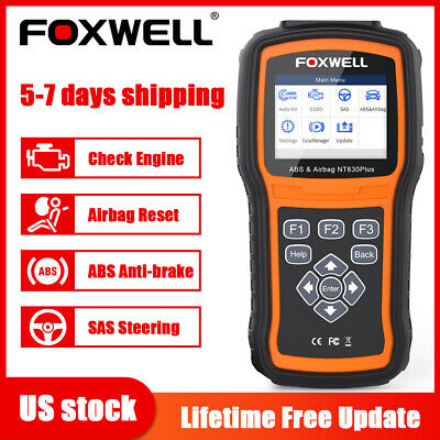 Foxwell NT630 Pro  ABS Airbag SRS SAS Reset OBD2 Code Reader Diagnostic Scanner