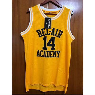 Fresh Prince of Bel-Air Will Smith 14 Bel-Air Academy Basketball Jersey S-XXXL