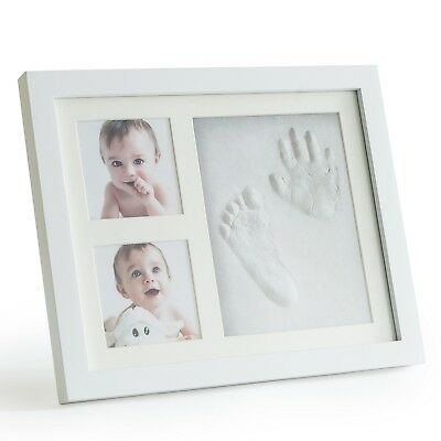 First Baby Footprint And Handprint Picture Frame Kit Safe And Non Toxic Clay