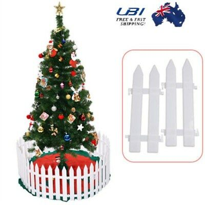 X5 White Picket Fence Garden Fencing Lawn Edging Home Yard Xmas Bar Tree Fence