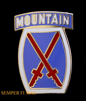 10th MOUNTAIN DIVISION LAPEL HAT PIN US ARMY FORT DRUM CLIMB TO GLORY INFANTRY