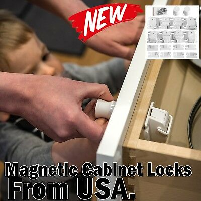 Cabinet Lock Keys Magnetic Replacement Key Baby Safety Kitchen Nursery Door USA