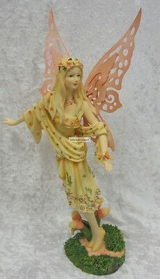 Orange Forest Fairy Ornament Suits Fairy Garden Or Birthday Cake Topper FE340C