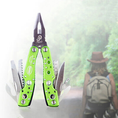 9 in1 Outdoor Stainless Steel Multi Tool Plier Portable Pocket Mini Camping Kit