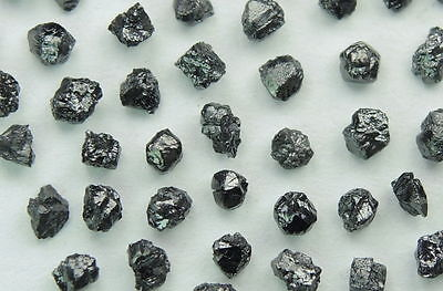 Natural Loose Diamonds Rough Shape Black I1 Clarity 1.50 to 1.70 MM 2.00 Ct J13