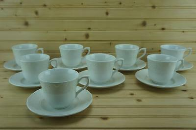 Johnson Brothers RICHMOND White (8) Cup & Saucer Sets | Discontinued | England