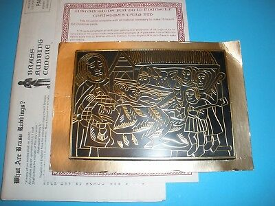 "Vintage Adoration Of The Shepherds Nativity "" Brass "" rubbing Plate Cardmaking"