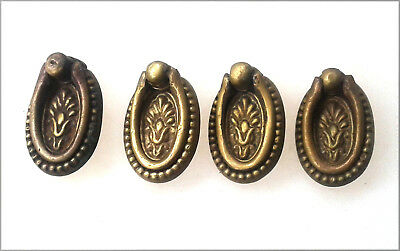 Set of 4 Solid Brass Eastlake Style Ring Pulls