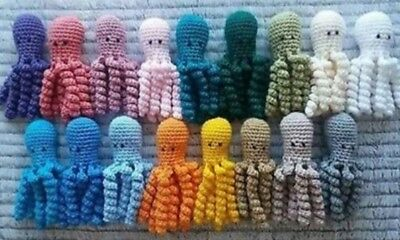 Crochet Octopus for Premature Babies - Comforter - Gift - Shower - Any Colour