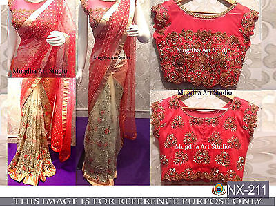 Bollywood Designer Indian Party Wear Ethnic Sari Bridal Wedding Asian Saree
