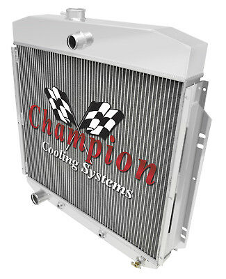 3 Row Rockin Champion Radiator for 1957-1960 Ford F-100 Chevy Configuration