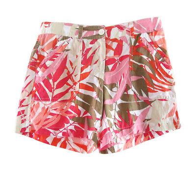 ad778bdbd6 TOMMY BAHAMA MULTI-COLOR Tropical Print Linen Cargo Shorts size 0 ...
