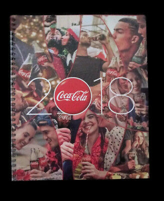 Coca-Cola  2018 14-month Planner Lay-Flat Viewing, 2-Page Month,   - BRAND NEW