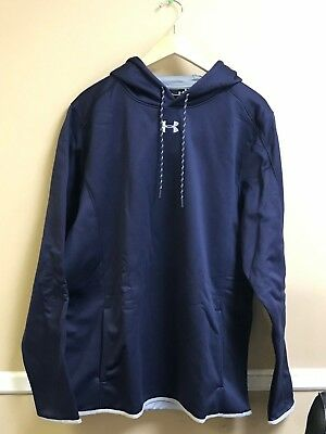Under Armour Double Threat Hooded Sweatshirt Color Navy 1295286 Free Ship
