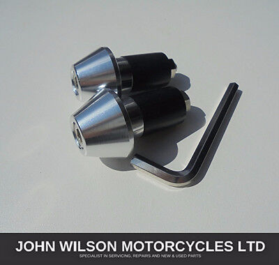 Honda CBF125 Silver Aluminium Handlebar Bar End Weight Sliders